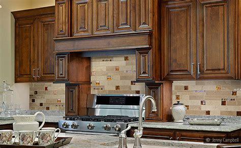 Backsplash Ideas For Brown Cabinets brown kitchen backsplash ideas quicua