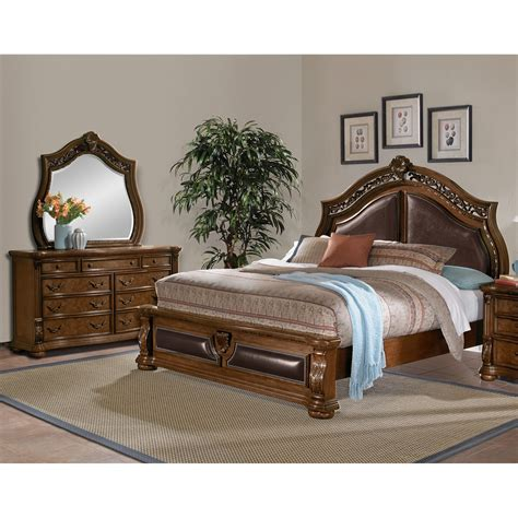 king bedroom sets morocco 5 king bedroom set pecan value city