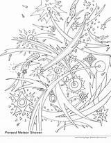 Meteor Coloring Shower 3300px 2550 1522 33kb Smirnova Ekaterina Falling Perseid August sketch template