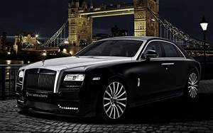 2015 Onyx Rolls Royce Ghost San Mortiz Wallpaper HD Car