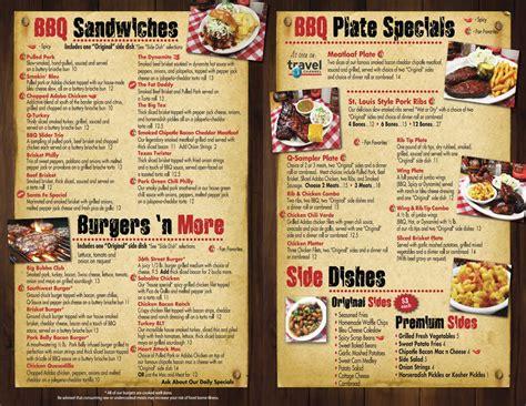 menu cuisine az bbq menu for az 39 s the barbecue company award winning bbq ribs bbq meatloaf bbq