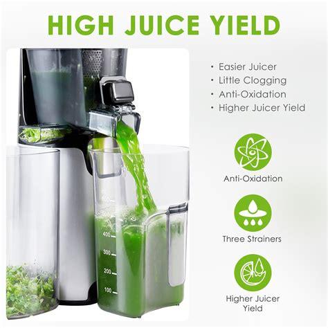 juicer aicok masticating juice cold press machine yield extractor slow nutrient strainers vegetable desserts frozen quiet jam reverse function fruit