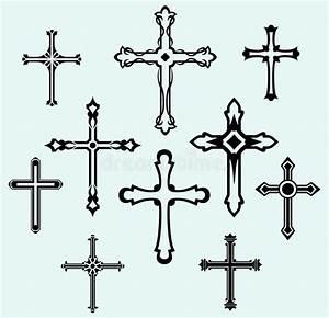 Religious Cross Design Collection Stock Vector ...