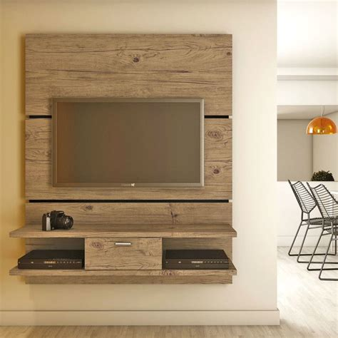 simple natural polished teak wood wall board  tv stand