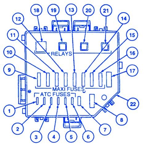 1994 Mustang Gt Fuse Box Diagram by Ford Mustang Gt 1997 Power Distribution Fuse Box Block