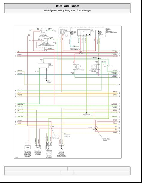2001 Ford Ranger 4x4 Wiring Diagram by 1999 Ford Ranger System Wiring Diagrams 4 Images