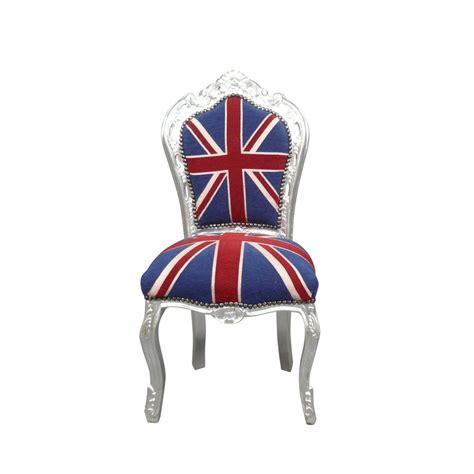 chaise anglaise chaise baroque drapeau anglais meuble baroque