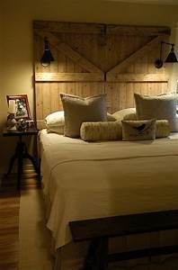 5 fabulous ideas for country farmhouse decor theme for Barn door style headboard