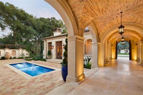mediterranean villa features formal pool  spa  hgtv