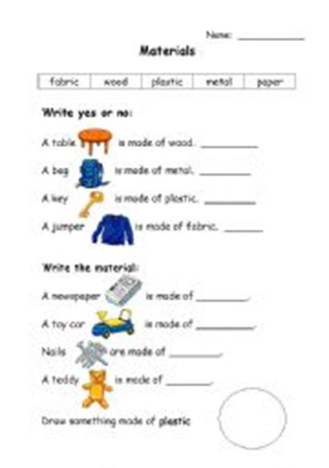 materials esl worksheet  blicari