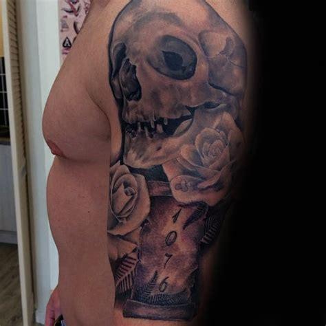 scroll tattoos  men manly paper design ideas