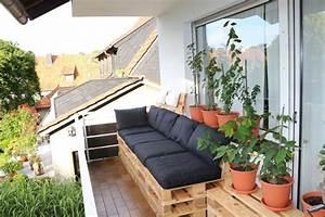 Balkonmöbel Aus Europaletten : balkonm bel aus europaletten balkon einrichtung diy sofa paletten palettensofa balcony ~ Orissabook.com Haus und Dekorationen