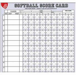 11 sample softball score sheets sample templates for Softball scorecard template