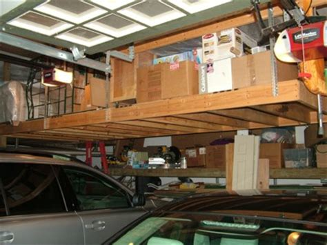 hanging garage storage 20 diy garage shelving ideas guide patterns