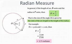 Arc Length And Radian Measure