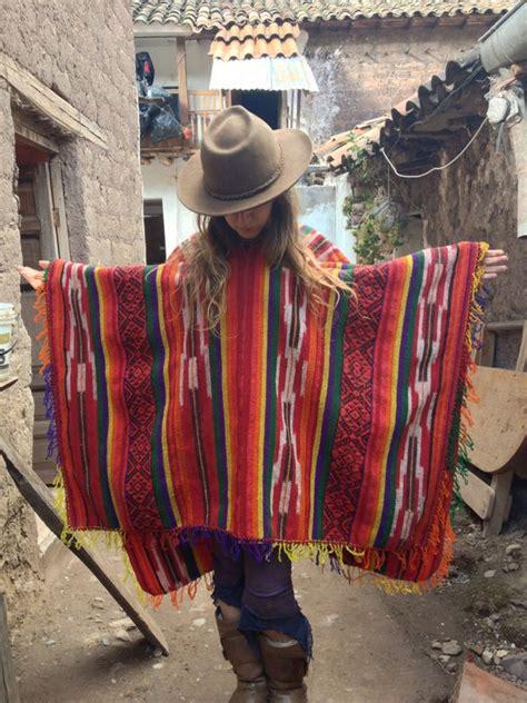 celebration series peruvian wool poncho