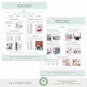 "8.5x11"" Double-Sided Product Price List Template - MKI05 