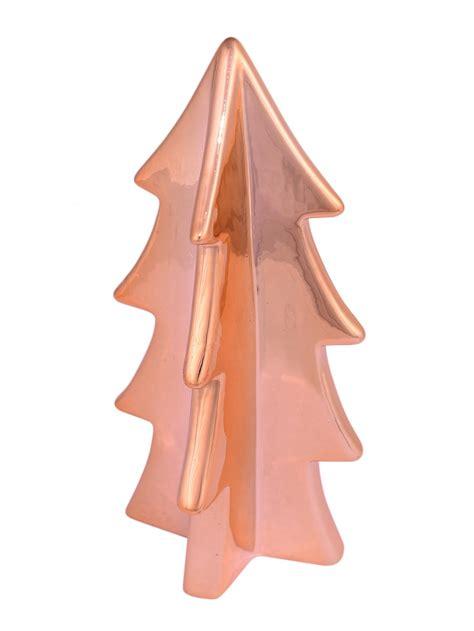 copper finish ceramic tree ornament 16cm ornaments