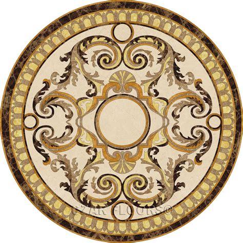 medallion floor stone medallions model madonna custom wood stone flooring czar floors