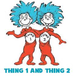 cat in the hat thing 1 and thing 2 dr seuss characters archives how to draw step by step