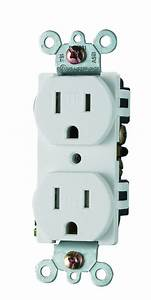 China Stand Duplex Electrical Outlet  Straight Blade