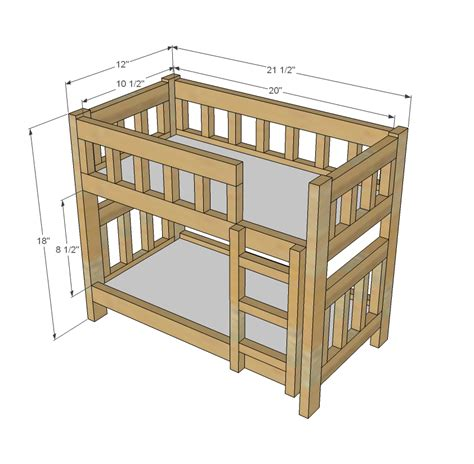 woodwork american girl doll bunk bed plans   plans
