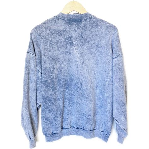 wash sweater vintage 90s walt disney mickey mouse acid wash