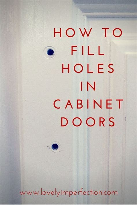 How To Fill Holes In Cabinet Doors Cabinet Doors
