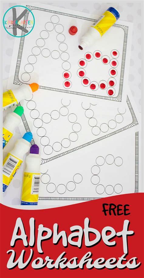 Kindergarten Worksheets And Games Free Alphabet Letters Worksheets Using Bingo Markers