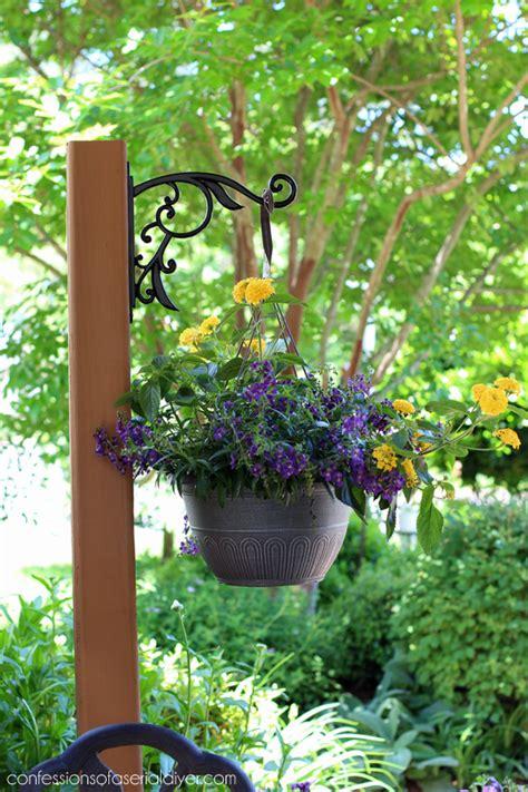diy standing outdoor plant hanger confessions