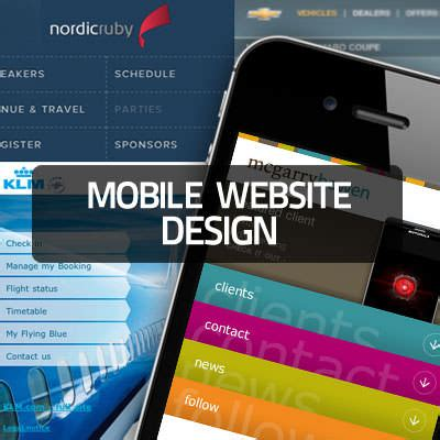 Mobile Web Design Inspiration by Mobile Web Design Beautiful Collection For Inspiration