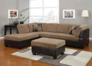 fabric sectionals two tone sectionals corduroy