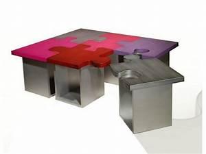 Table De Salon Originale : table basse puzzle ~ Preciouscoupons.com Idées de Décoration