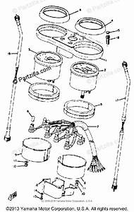 Yamaha Motorcycle 1973 Oem Parts Diagram For Meter