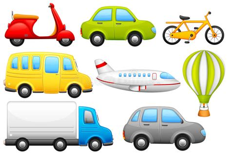 Means Of Transport Stock Vector. Illustration Of