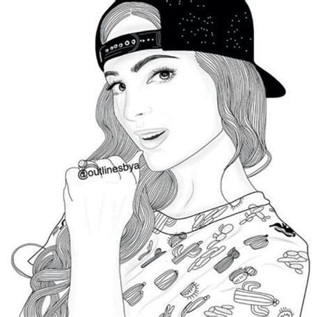 cool girl  outline image squad   tumblr
