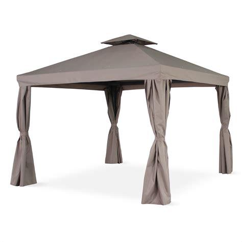 tonnelle parapluie leroy merlin tente de jardin pergola aluminium 3x3m divodorum avec rideaux coulissants