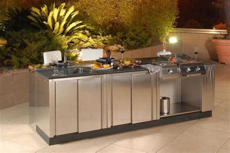 stainless steel cabinets for outdoor kitchens outdoor kitchen renovations 9385