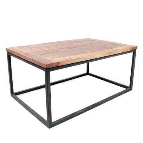 Table De Salon Bois Et Metal  Idées De Décoration
