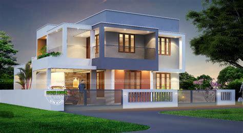 contemporary inspired kerala home design plans acha