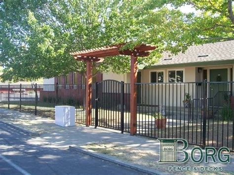 Borg Fence And Decks by Arbor Designs Wrought Iron Fence And Gate With Arbor At
