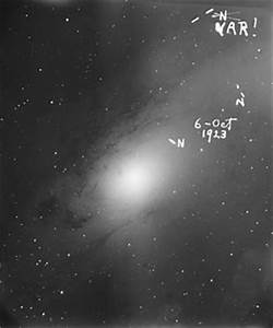 Figure: Edwin Hubble's view of Andromeda
