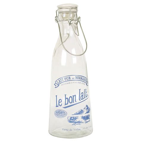 Milk In French Set Of Two French Milk Bottles By Dibor