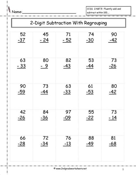 second grade math worksheets to print free printable for