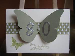 Geburtstagskarten Basteln Ideen : geburtstagskarten selber machen ingeborgs bastelecke 80 geburtstag basteln cards diy ~ Watch28wear.com Haus und Dekorationen