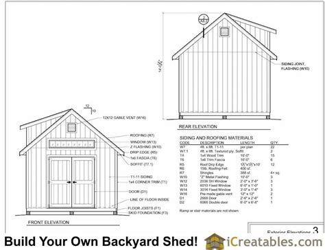 12x16 Barn Shed Material List by 12x20 Shed Plans With Dormer Icreatables