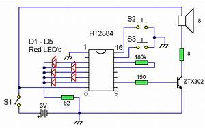 Sound Effects Generator 2    Circuit Diagrams