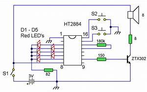 Sound Effects Generator 2    Circuit Diagrams