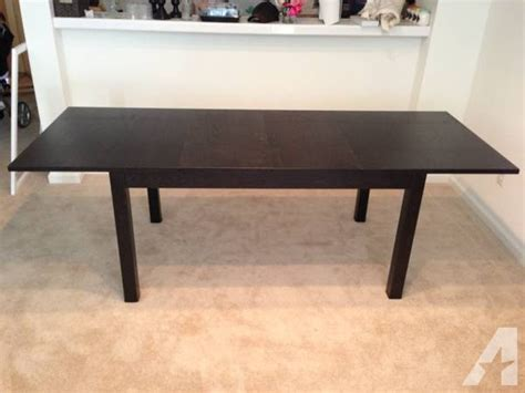 ikea bjursta dining table seats 6 8 black brown for