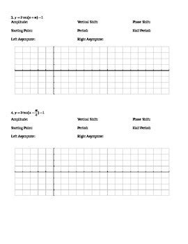 graphing trig functions worksheets by keith tpt